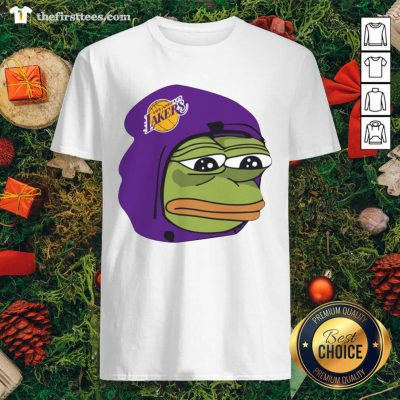 Los Angeles Lakers Sad Pepe The Frog Shirt - Design by Thefirsttees.com
