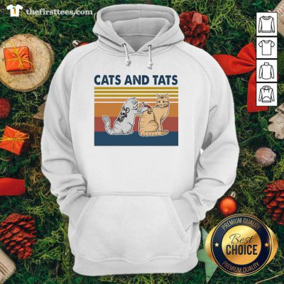 Cats And Tats Tattoo Vintage Retro Hoodie - Design by Thefirsttees.com