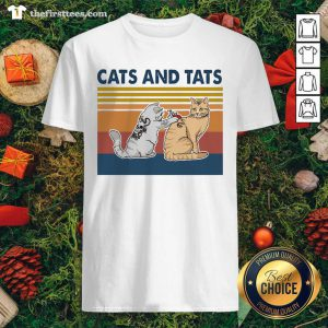 Cats And Tats Tattoo Vintage Retro Shirt - Design by Thefirsttees.com