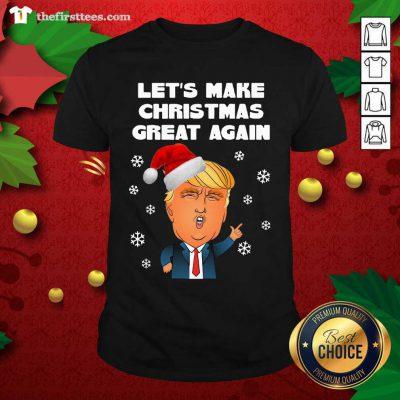 Santa Donald Trump Let's Make Christmas Great Again Shirt - Design by Thefirsttees.com