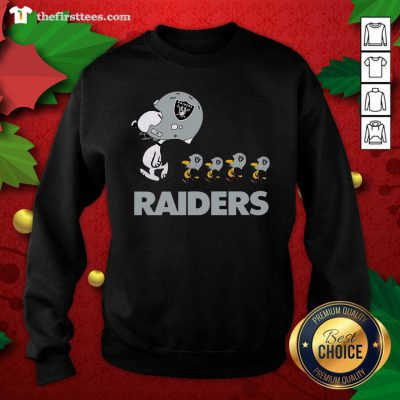 Snoopy And Woodstock Oakland Raiders Sweatshirt - Design by Thefristtees.com
