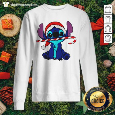 Stitch Wear Hat Santa Claus Merry Christmas Sweatshirt - Design by Thefirsttees.com