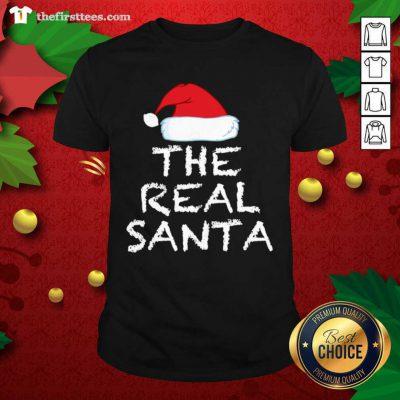 The Real Santa Christmas Holiday Shirt - Design by Thefirsttees.com