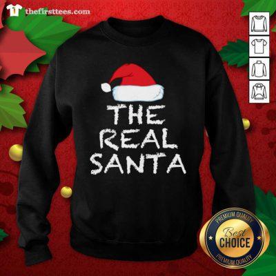 The Real Santa Christmas Holiday Sweatshirt - Design by Thefirsttees.com