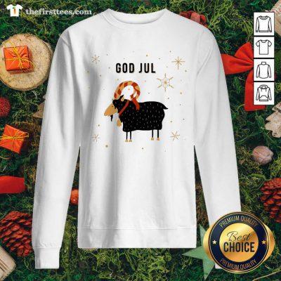 God Jul Goat Ugly Christmas Sweatshirt - Design by Thefirsttees.com