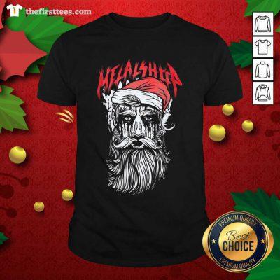 Metalshop Santa Merry Christmas Shirt - Design by Thefirsttees.com