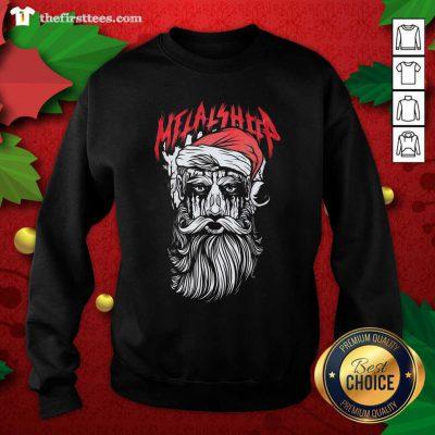 Metalshop Santa Merry Christmas Sweatshirt - Design by Thefirsttees.com