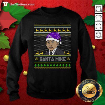 Michael Scott Santa Mike Ugly Christmas Sweatshirt - Design by Thefirsttees.com