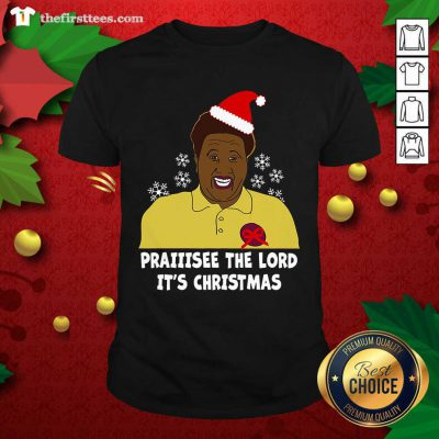 Santa Hellur Praise The Lord It's Christmas Shirt - Design by Thefirsttees.com