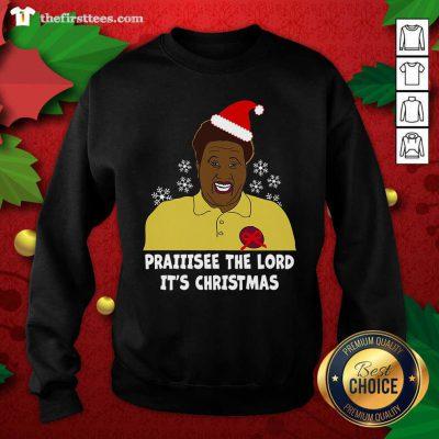 Santa Hellur Praise The Lord It's Christmas Sweatshirt - Design by Thefirsttees.com
