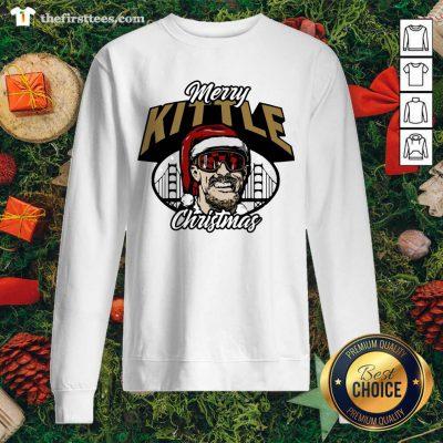 George Kittle Merry Kittle Christmas Sweatshirt - Design by Thefirsttees.com