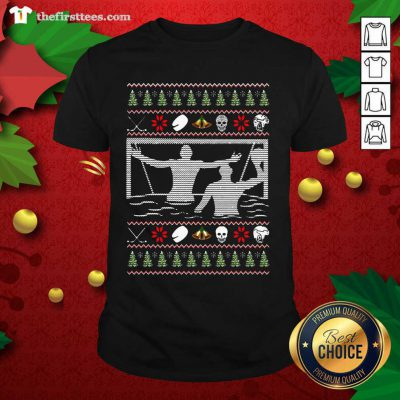 Water Polo Ugly Christmas Shirt - Design by Thefirsttees.com