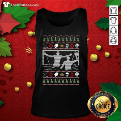 Water Polo Ugly Christmas Tank Top - Design by Thefirsttees.com