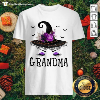 Grandma Witch Hat Halloween Shirt - Design by Thefirsttees.com