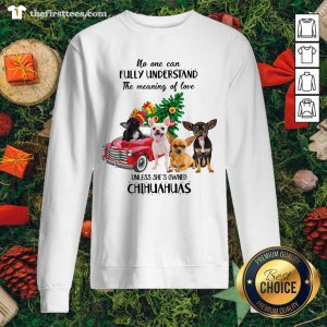 No One Can Fully Understand The Meaning Of Love Chihuahuas Christmas Sweatshirt - Design by Thefirsttees.com