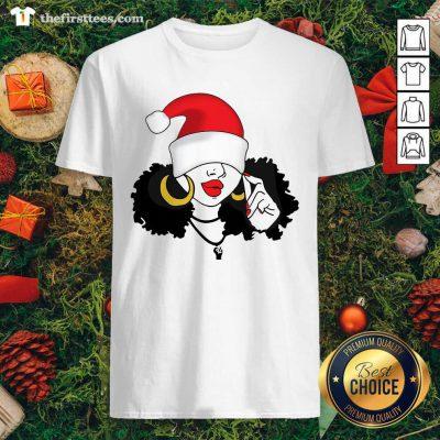 Merry Christmas Black Girl Magic Shirt - Design by Thefirsttees.com