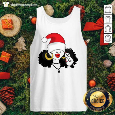 Merry Christmas Black Girl Magic Tank Top - Design by Thefirsttees.com