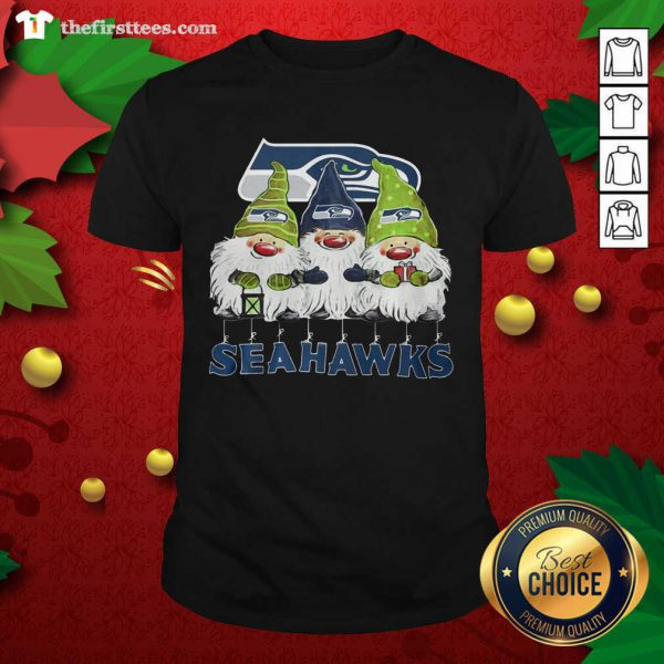 Seattle Seahawks Gnomies Christmas Shirt - Design by Thefristtees.com