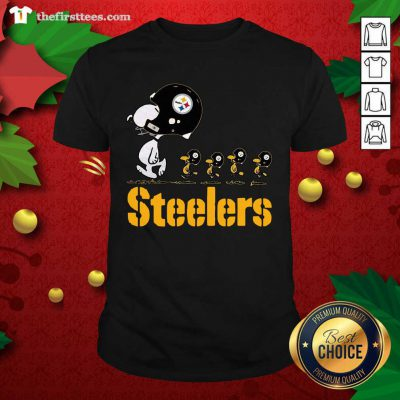 Snoopy And Woodstock Pittsburgh Steelers Shirt - Design by Thefristtees.com
