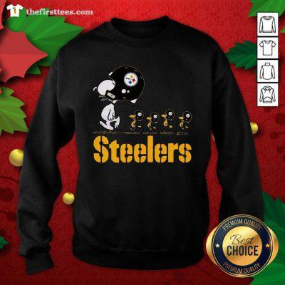 Snoopy And Woodstock Pittsburgh Steelers Sweatshirt - Design by Thefristtees.com
