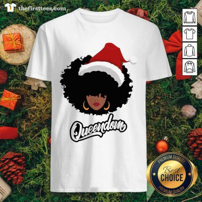 Merry Christmas Queendom Black Girl Magic Shirt - Design by Thefirsttees.com