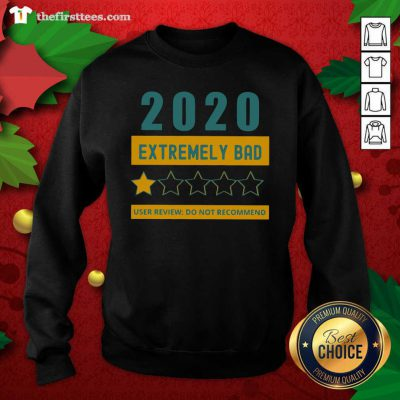 2020 Extremely Bad One Star User Review Do Not Recommend Sweatshirt - Design by Thefirsttees.com