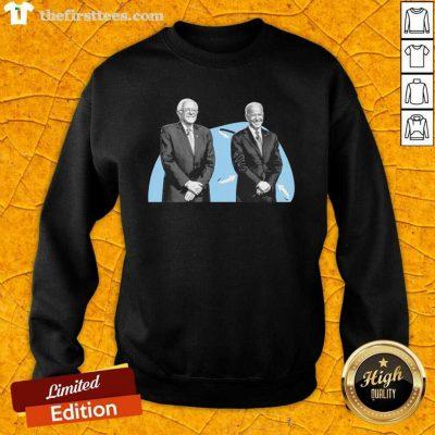Joe Biden And Bernie Sanders Sweatshirt - Design by Thefirsttees.com