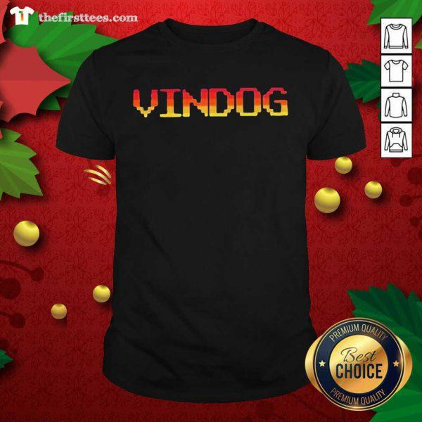 Vindog Retro Tee Shirt - Design by Thefristtees.com