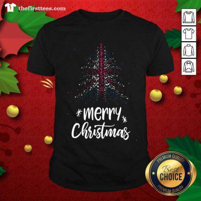 Tree England Flag Merry Christmas Shirt - Design by Thefirsttees.com