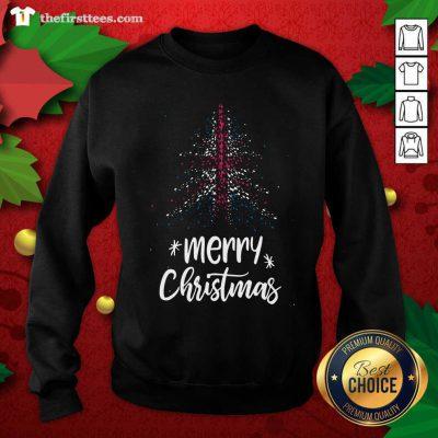 Tree England Flag Merry Christmas Sweatshirt - Design by Thefirsttees.com