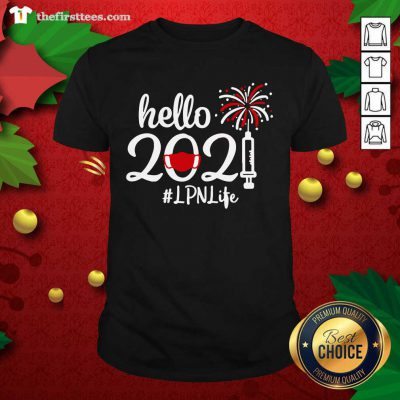 Hello 2021 LPN Life Face Mask Christmas Shirt - Design by Thefirsttees.com