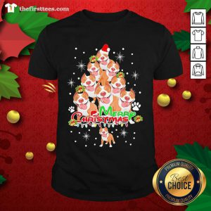 Merry Pitmas Pitbull Christmas Tree Dogs Shirt - Design by Thefirsttees.com