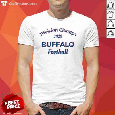 Division Champs 2020 Buffalo Bills Football Shirt - Design by Thefirsttees.com