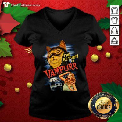 Cat The Return Of Vampurr V-neck - Design by Thefristtees.com
