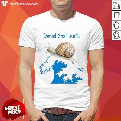 Daniel Snail Surfs Cute Snail Surfer Dude Shirt- Design By Thefirsttees.com