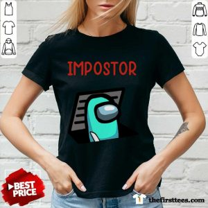 Impostor Among Game Us Idk Bro You Kinda Sus V-neck- Design By Thefirsttees.com