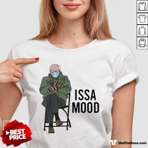 Issa Mood Funny Bernie Sanders Mittens Meme V-neck- Design By Thefirsttees.com
