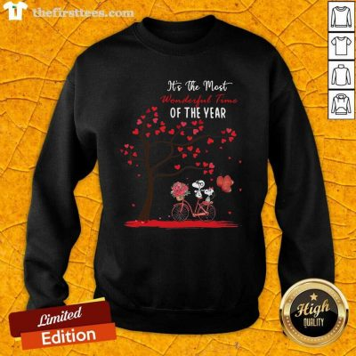 Snoopy And Girlfriend Its The Most Wonderful Time Of The Year Valentines Day Sweatshirt - Design by Thefirsttees.com