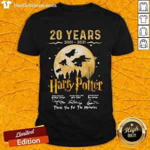 20 Years 2001 2021 Of Harry Potter Signature Thank You For The Memories Shirt- Design By Thefirsttees.com