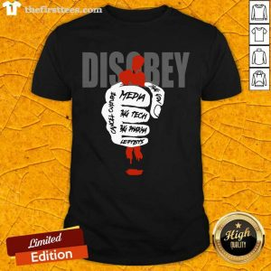 Disobey Media Big Tech Big Pharma Leftists Shirt- Design By Thefirsttees.com