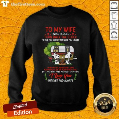 Snoopy And Girlfriend To My Wife Turn Back The Clock I Love You Valentines Day Sweatshirt - Design by Thefirsttees.com