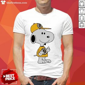 Snoopy Boston Bruins NHL Middle Fingers Fuck You Shirt- Design By Thefirsttees.com