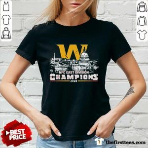 Washington Football Nfc East Division Champions 2020 V-neck- Design By Thefirsttees.com