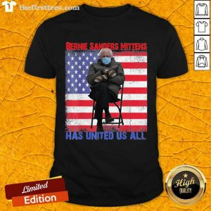 Bernie Sanders Mittens Sitting Inauguration usa flag Premium Gift Shirt- Design By Thefirsttees.com