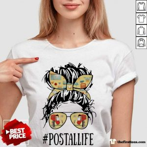 The Girl Postallife V-neck- Design By Thefirsttees.com