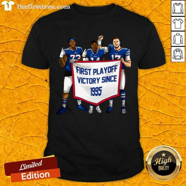 Buffalo Bills First Playoff Victory Since 1995 Shirt- Design By Thefirsttees.com