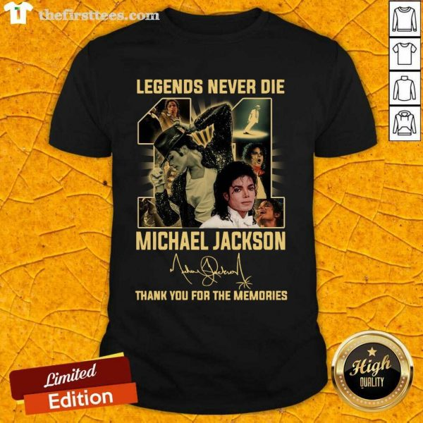 Michael Jackson 11 Legend Never Die Signature Thank Shirt- Design By Thefirsttees.com