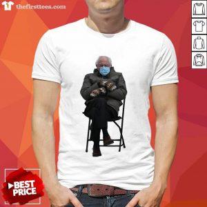 Bernie Sanders Mittens Sitting Inauguration Funny Meme Premium Classic Shirt- Design By Thefirsttees.com