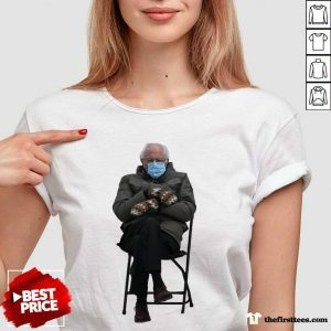 Bernie Sanders Mittens Sitting Inauguration Funny Meme Premium Classic V-neck- Design By Thefirsttees.com