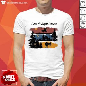 I Am A Simple Woman Horse Shirt- Design By Thefirsttees.com